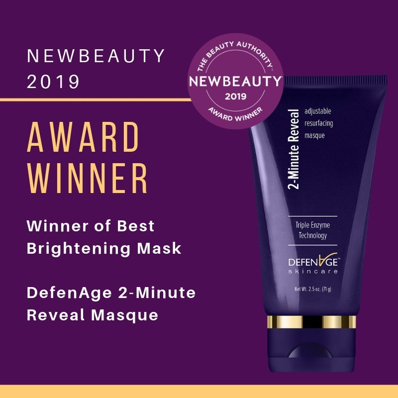 "DefenAge 2-Minute Reveal Masque Wins NewBeauty Award for ""Best Brightening Mask"""